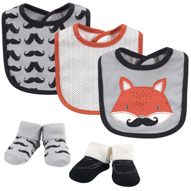 Baby Bib (3 Pcs With Socks) Mr.Fox - Kyemen Baby Online