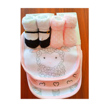 Load image into Gallery viewer, Baby Bib 3pcs With Socks (Little Lamb) - Kyemen Baby Online