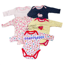 Load image into Gallery viewer, Baby Body Suit, Long Sleeves (5pcs) - Kyemen Baby Online