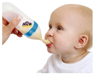 Baby Bottle With Spoon (Squeeze Feeder) - Kyemen Baby Online