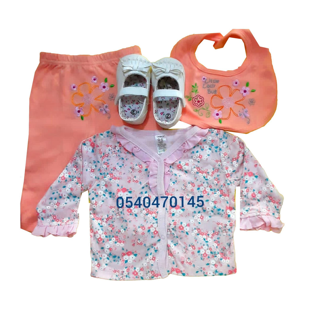 Baby Dress Set with shoe (Girl) - Kyemen Baby Online