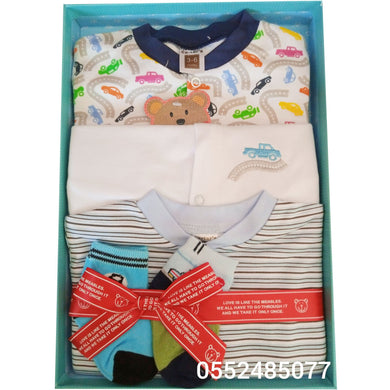 Baby Sleep Suit 3pcs (Cartar's, Male) - Kyemen Baby Online