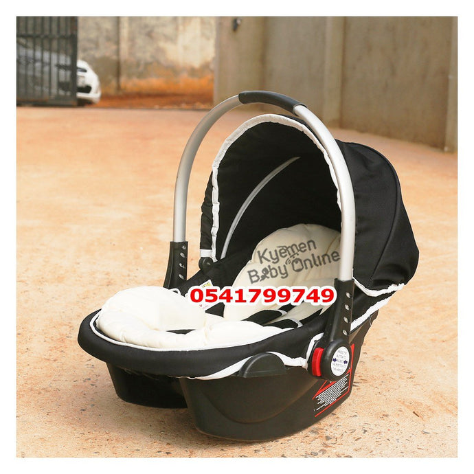 Car Seat Carrier ( Kullanim ) Black and Cream - Kyemen Baby Online