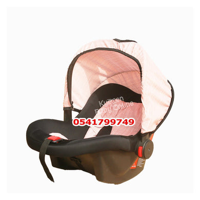 Car Seat Carrier ( Rose Baby) Light Pink - Kyemen Baby Online