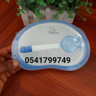 Feeding Bowl with Spoon ( Next to Nature) - Kyemen Baby Online