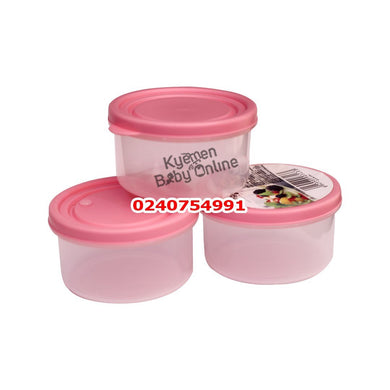 Food Storage bowl/ container (Round ) 3pcs - Kyemen Baby Online