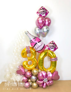 """Pink Bubbly Birthday"" Bouquet"