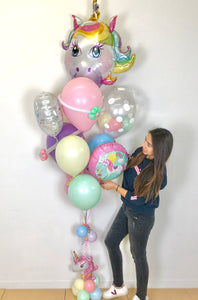 """Deluxe"" Unicorn Balloon Bunch"