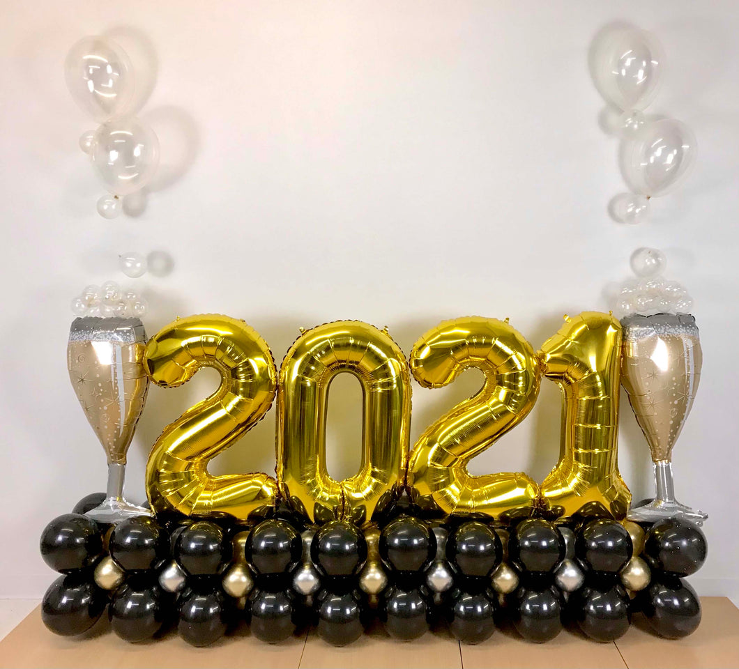 Cheers to 2021 Balloon Bouquet