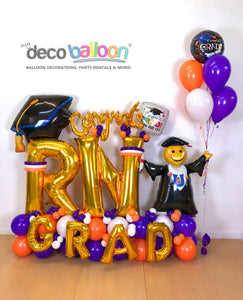 """Congrats Grad"" Balloon Bouquet"