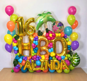 """Aloha Sweet 16"" Balloon Bouquet"