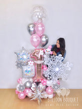"Load image into Gallery viewer, ""Winter Onederland"" Balloon Bouquet"