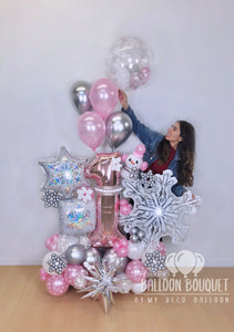 """Winter Onederland"" Balloon Bouquet"
