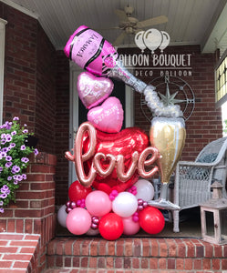 """Rose"" Anniversary Balloon Bouquet"