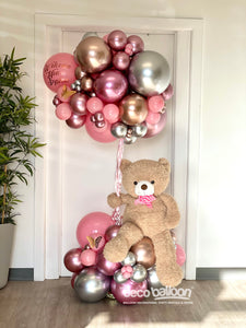 Welcome Baby Girl - Floating Bear