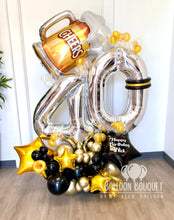 "Load image into Gallery viewer, ""Beers & Cheers"" Birthday Balloon Bouquet"