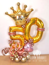 "Load image into Gallery viewer, ""Royal Birthday"" Balloon Bouquet"