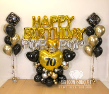 "Load image into Gallery viewer, ""Happy Birthday Pop Pop"" Balloon Bouquet"