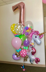 """Deluxe"" Unicorns Balloon Bunch"