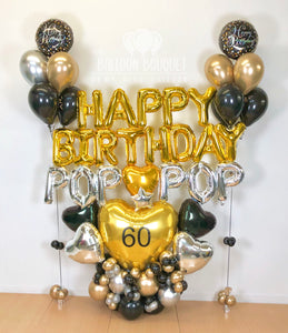 """Happy Birthday Pop Pop"" Balloon Bouquet"
