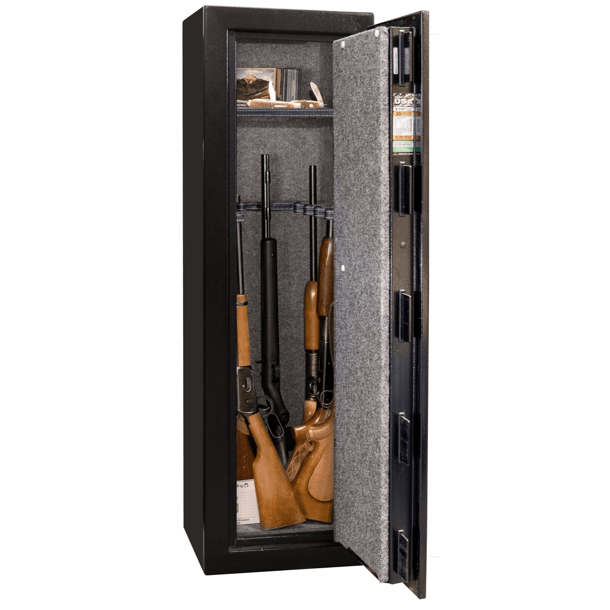 "Centurion | 12 | Level 1 Security | 30 Minute Fire Protection | Black | Black Mechanical Lock | 59.5""(H) x 18.25""(W) x 18""(D)"