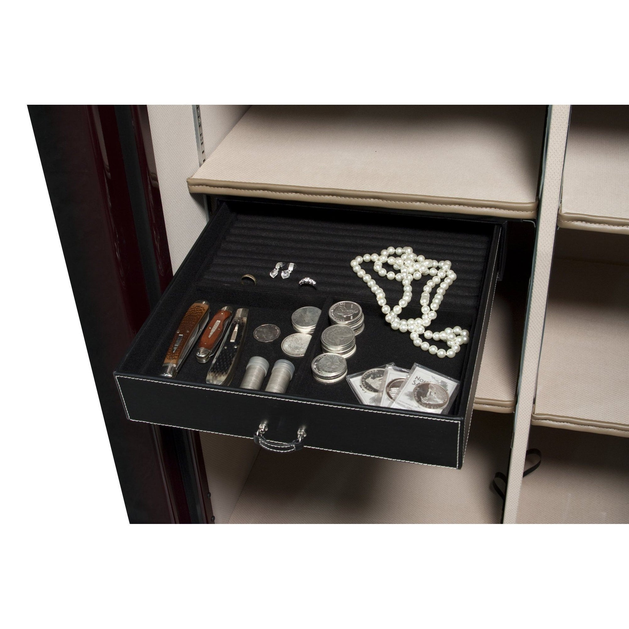 Liberty Safe-accessory-storage-jewelry-drawer-15-inch-under-shelf-mount-50-size-safes