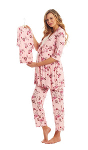 Everly Grey Blossom Analise 5 Piece PJ Set