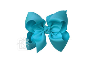 "8.5"" Alligator Clip Hair Bow Teal"