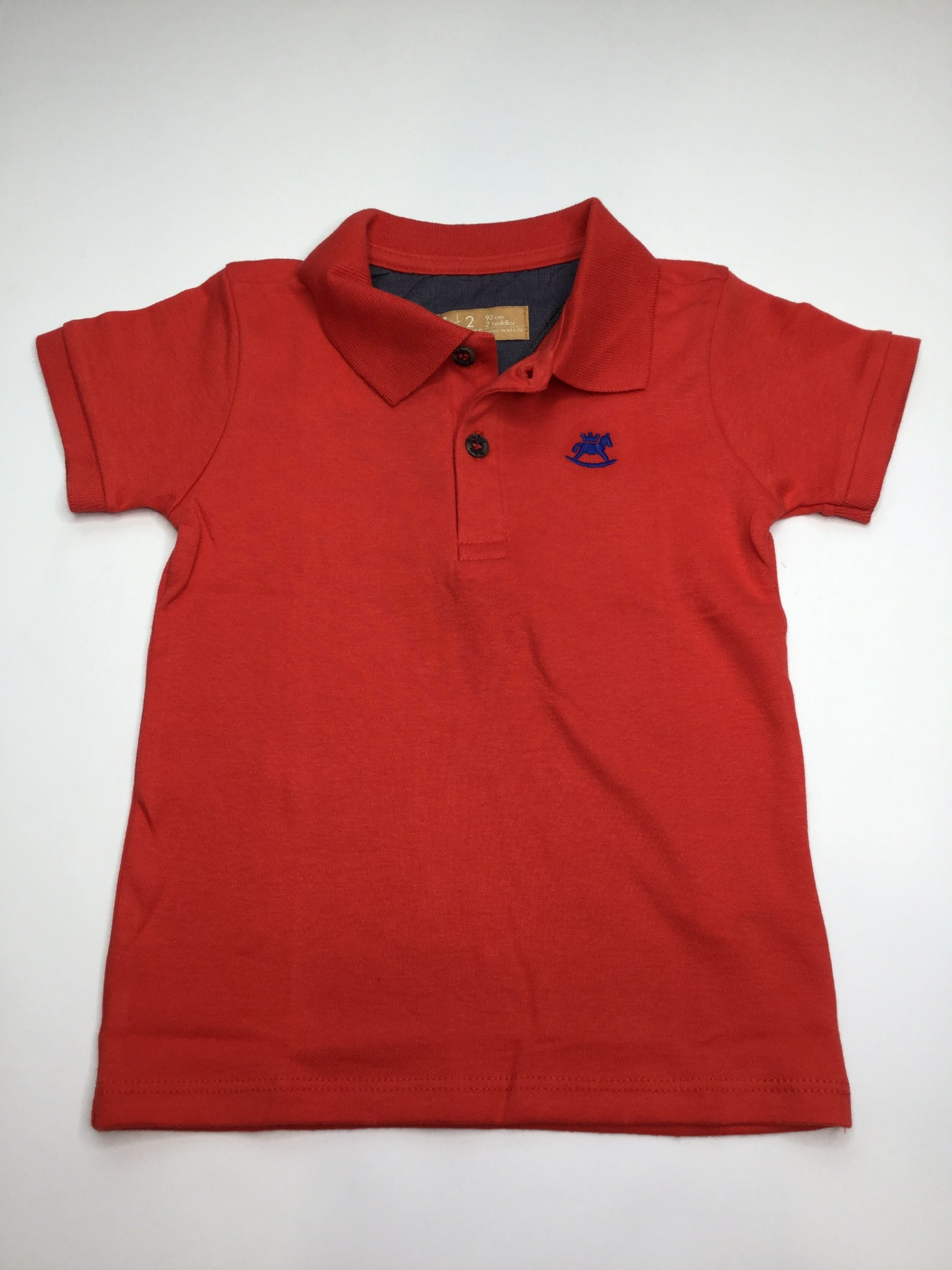 Up Baby Red Soft Jersey Cotton Polo