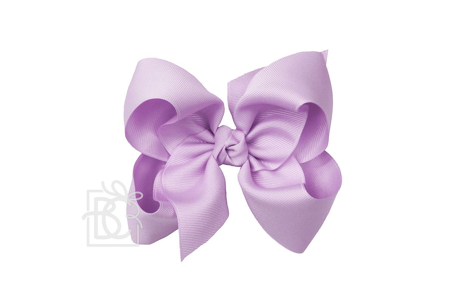 "8.5"" Alligator Clip Hair Bow Pale Orchid"