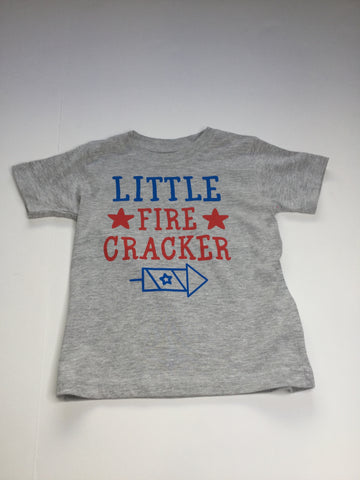 Little Firecracker s/s Grey T