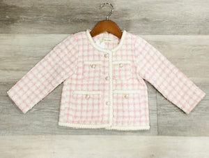 L/S Pink Tweed Jacket
