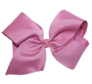 "8.5"" Alligator Clip Hair Bow Light Mauve"