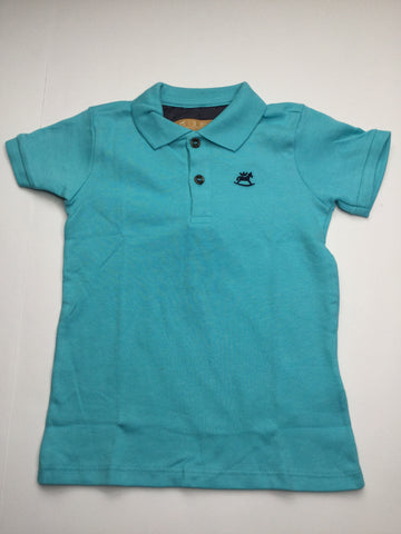 Up Baby Turquoise Soft Jersey Cotton Polo