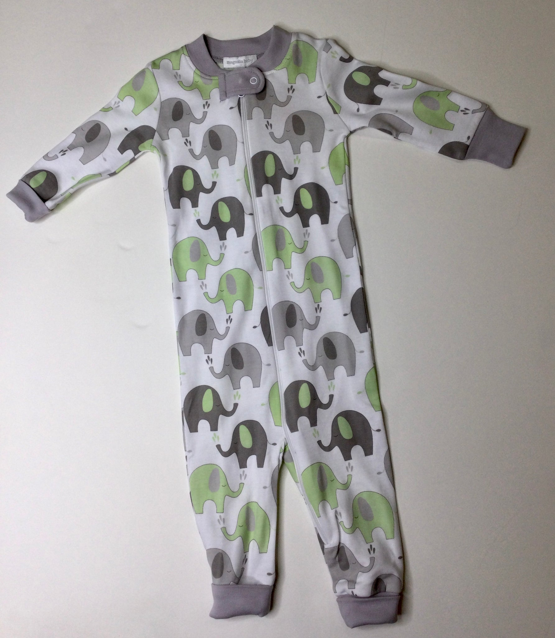 Elephant Printed Zipped Playsuit