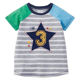 Mud Pie 3 Birthday Boy Shirt