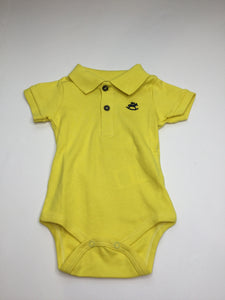 Up Baby Yellow Soft Jersey Cotton Polo Onesie