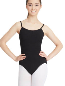 Black Camisole Leotard Cross front Design