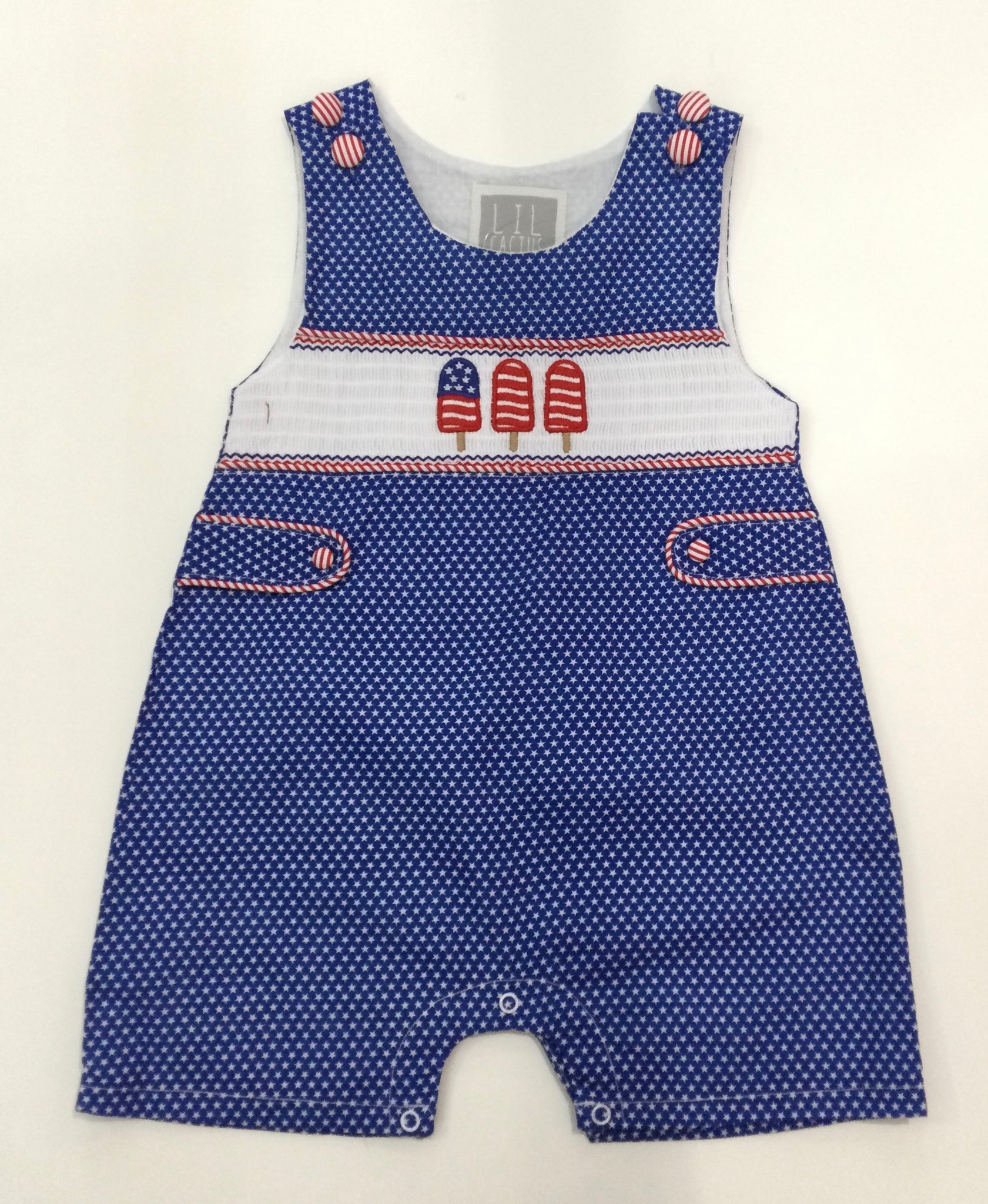 Blue Americana Popsicles Romper W/ Short Pants
