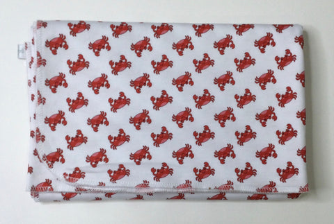 Crabulous Printed Swaddle Blanket