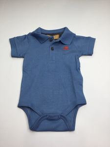 Up Baby Blue Soft Jersey Cotton Polo Onesie