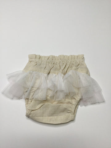 YoBaby Tulle Ruffle Bloomers White