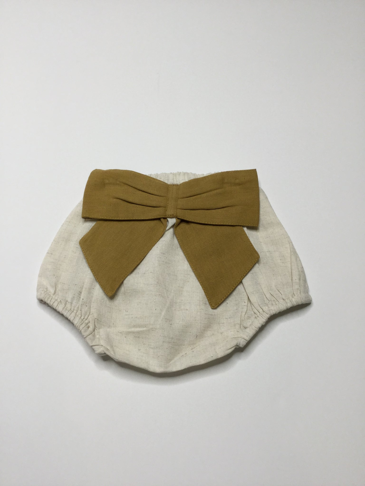 YoBaby Cotton Bow Bloomers Mustard