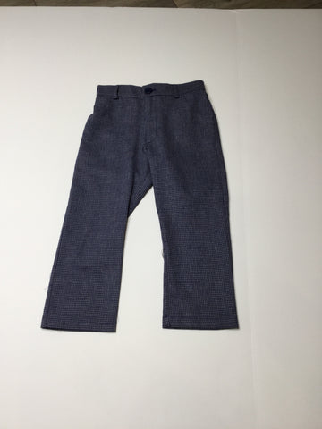 Sarah Louise Navy Tweed Pant boys