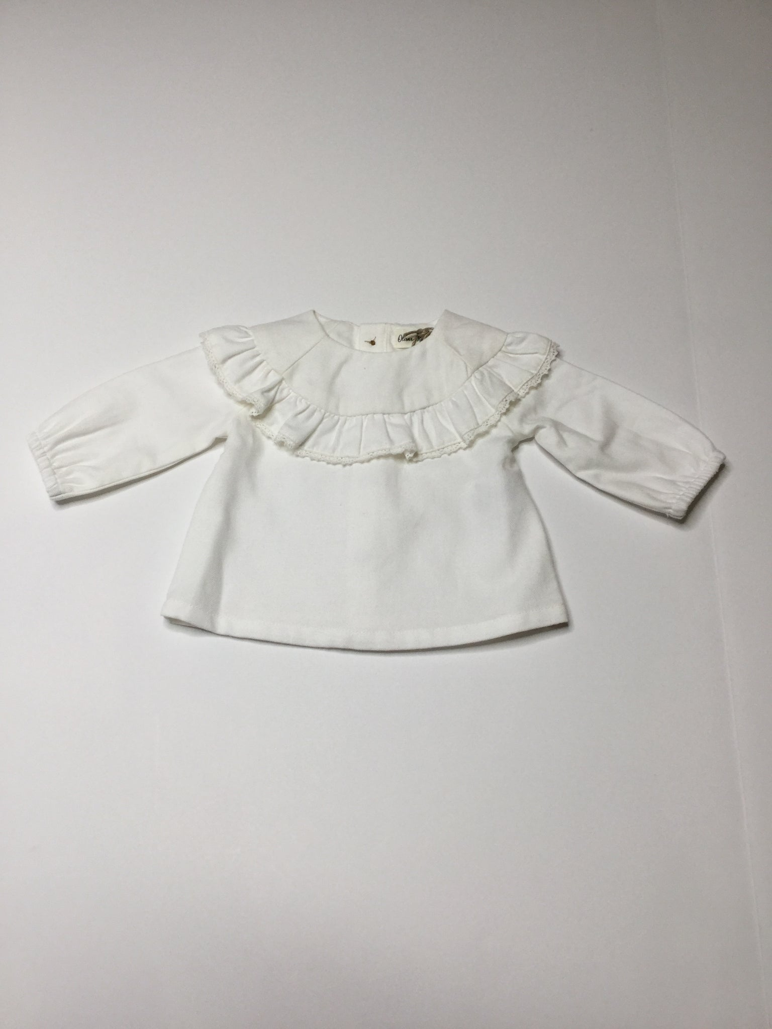 Oliver & Rain Woven Top ivory