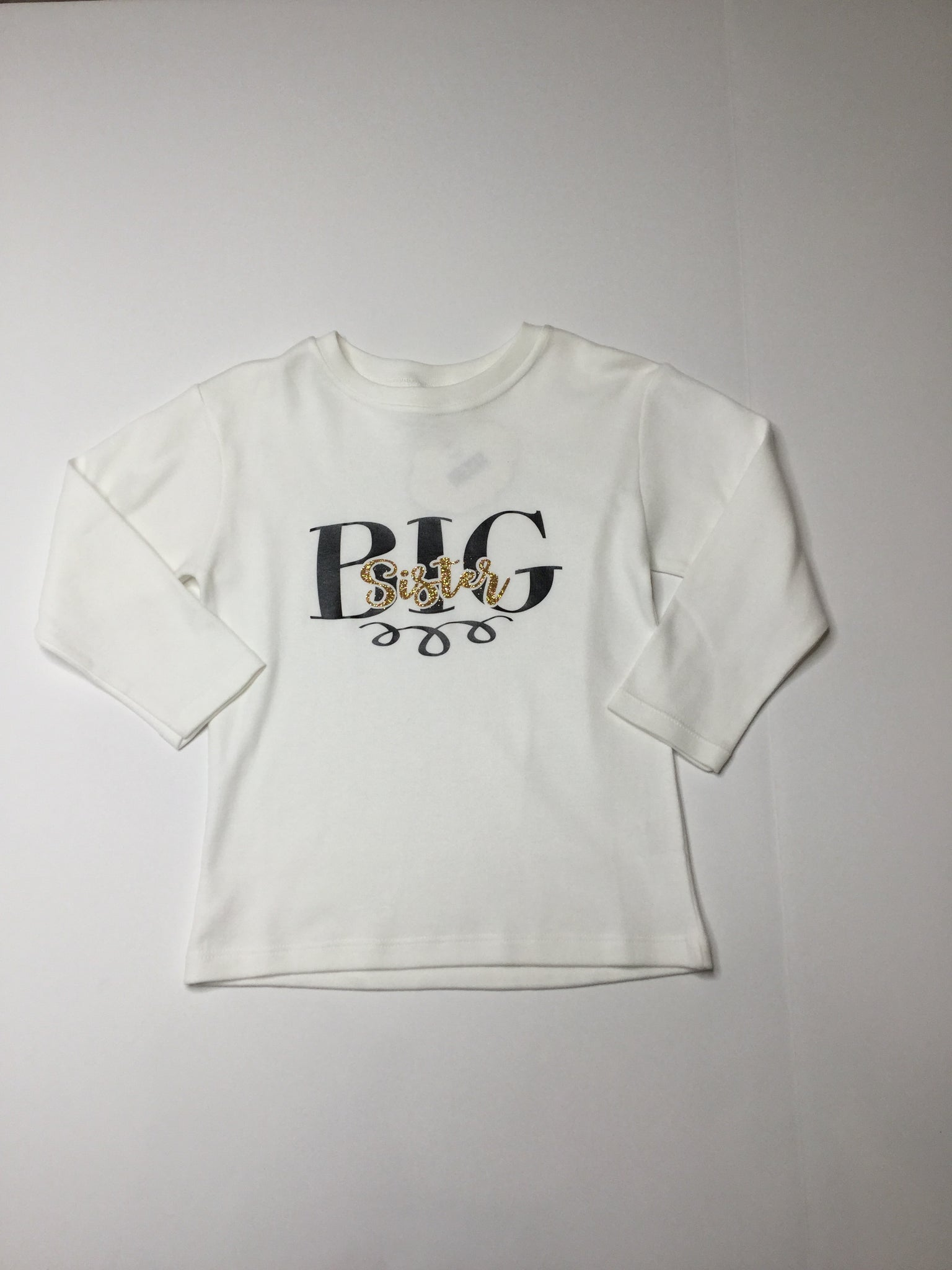 Big Sister Long Sleeve Top white