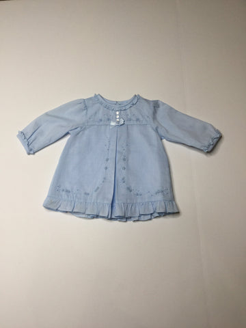 Sarah Louise Ruffle Dress blue
