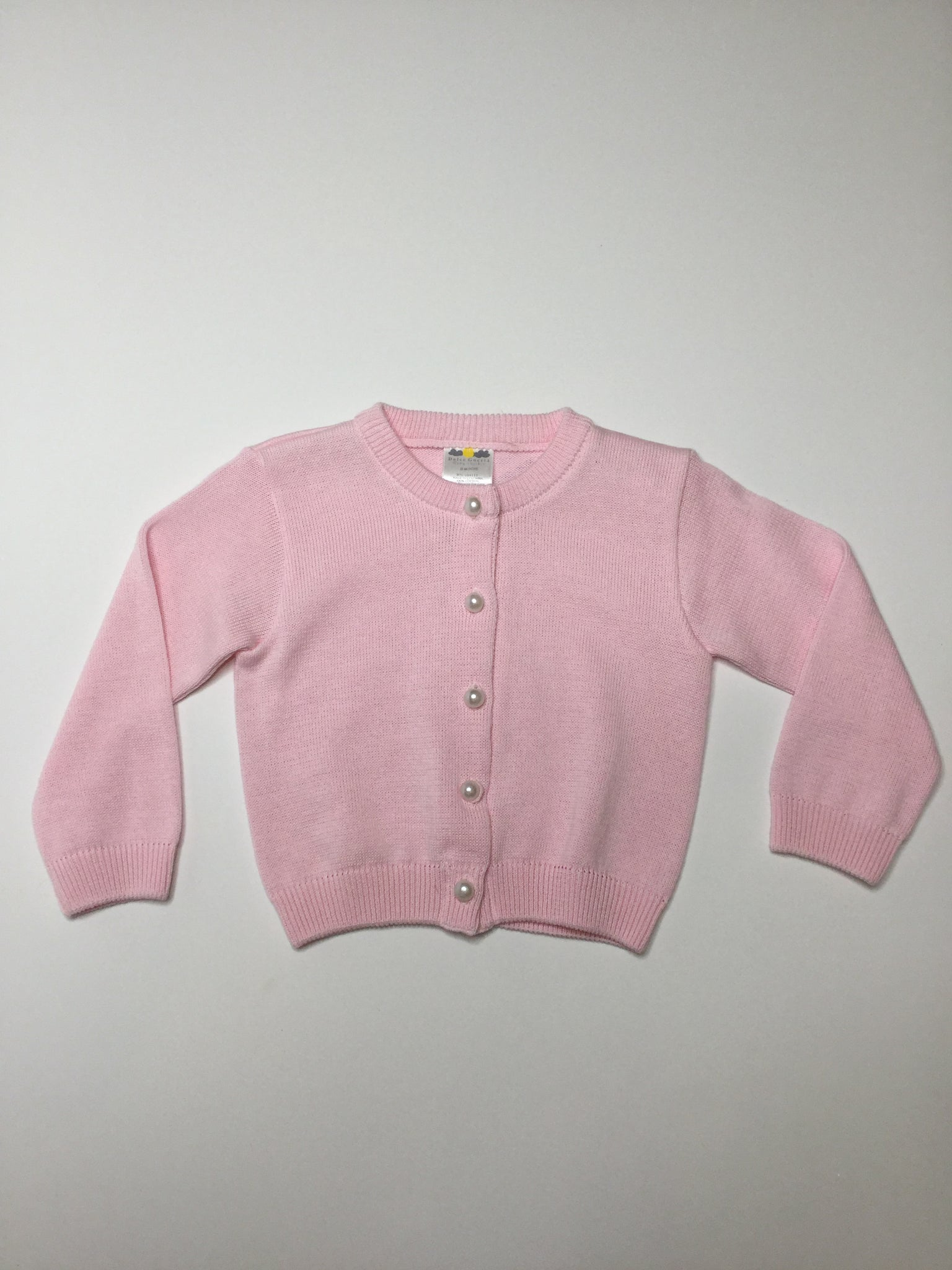 Dolce Goccia Pearl Button Sweater Cardigan pink