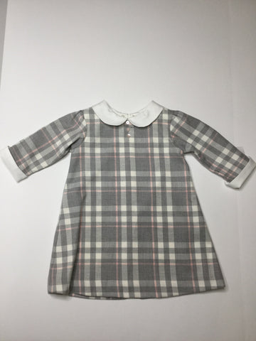 Sarah Louise Plaid Dress pink