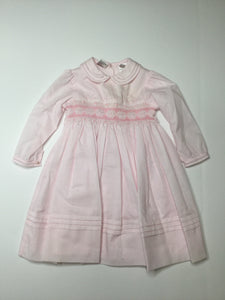 Sarah Louise Hand Smocked Dress pink